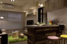 【北欧】一室一厅45平北欧装修效果图_1