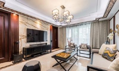 108㎡儒雅新中式风格家居装修设计,端庄大气的同时让人觉得韵味十足!
