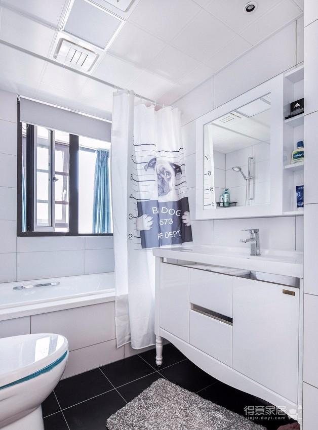 115㎡蓝色系简约北欧风装修设计案例,清新自然之家! 