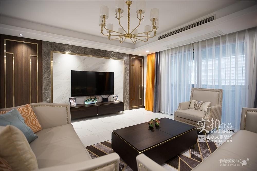 【怡芳苑】142平三室两厅现代轻奢装修效果图_3
