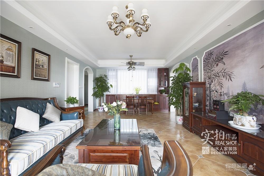 【联泰香域水岸】133平三室美式装修风格图_11