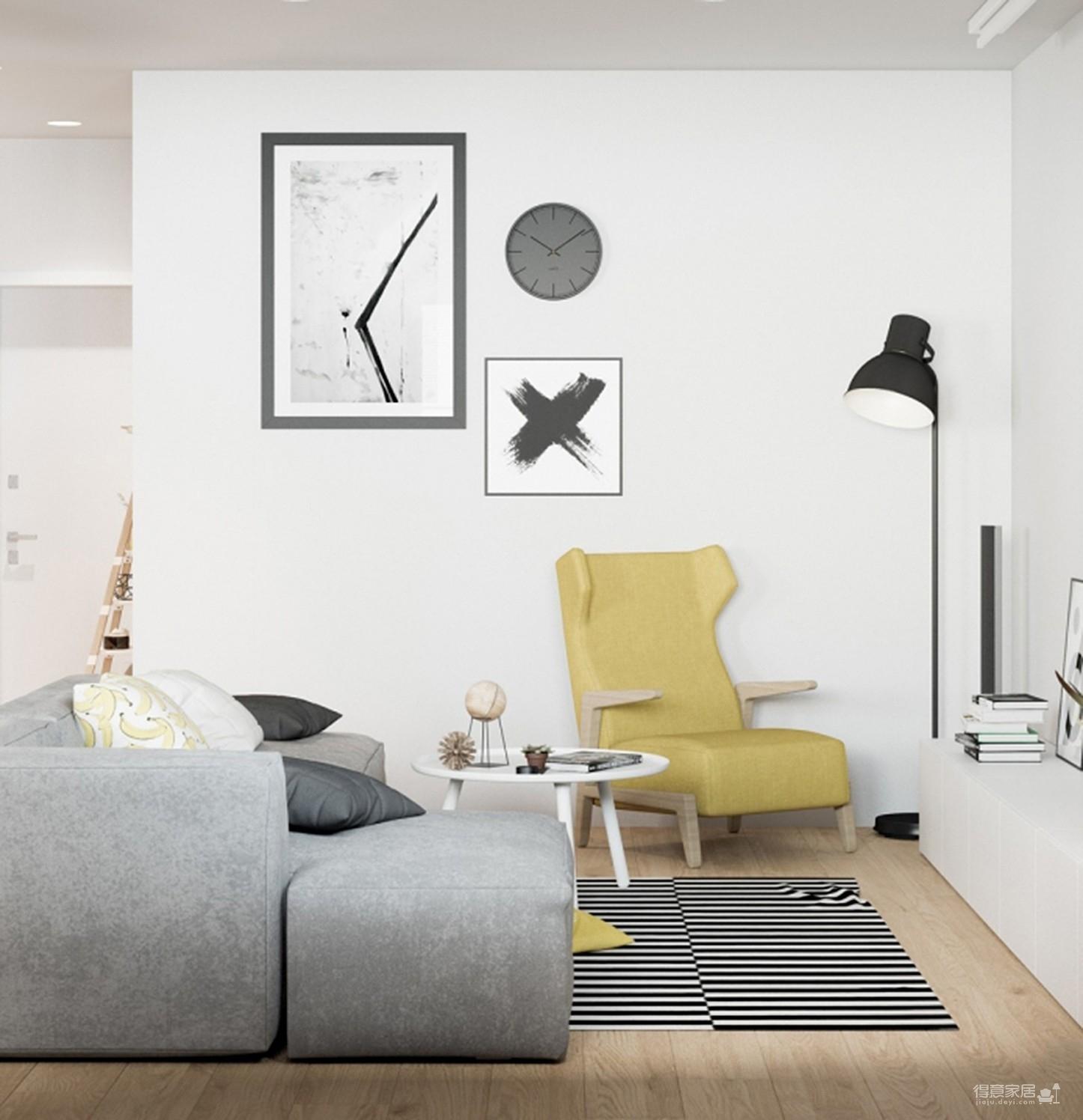 【简约】复式公寓设计图_1