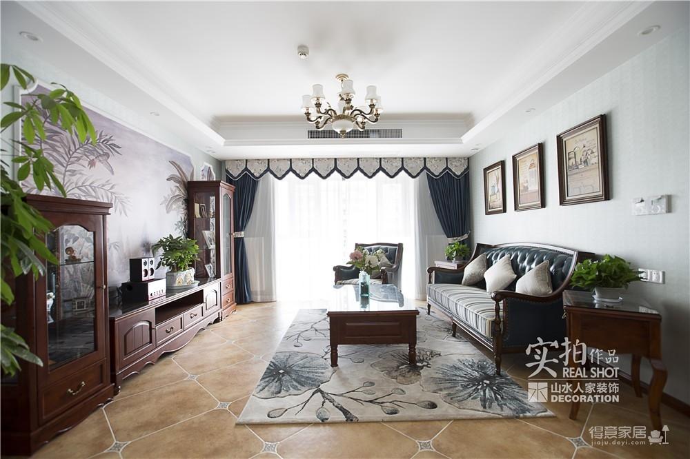 【联泰香域水岸】133平三室美式装修风格图_9