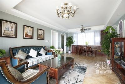 【联泰香域水岸】133平三室美式装修风格