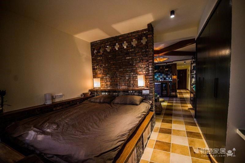 58平东南亚风格单身公寓《隐这里》图_9