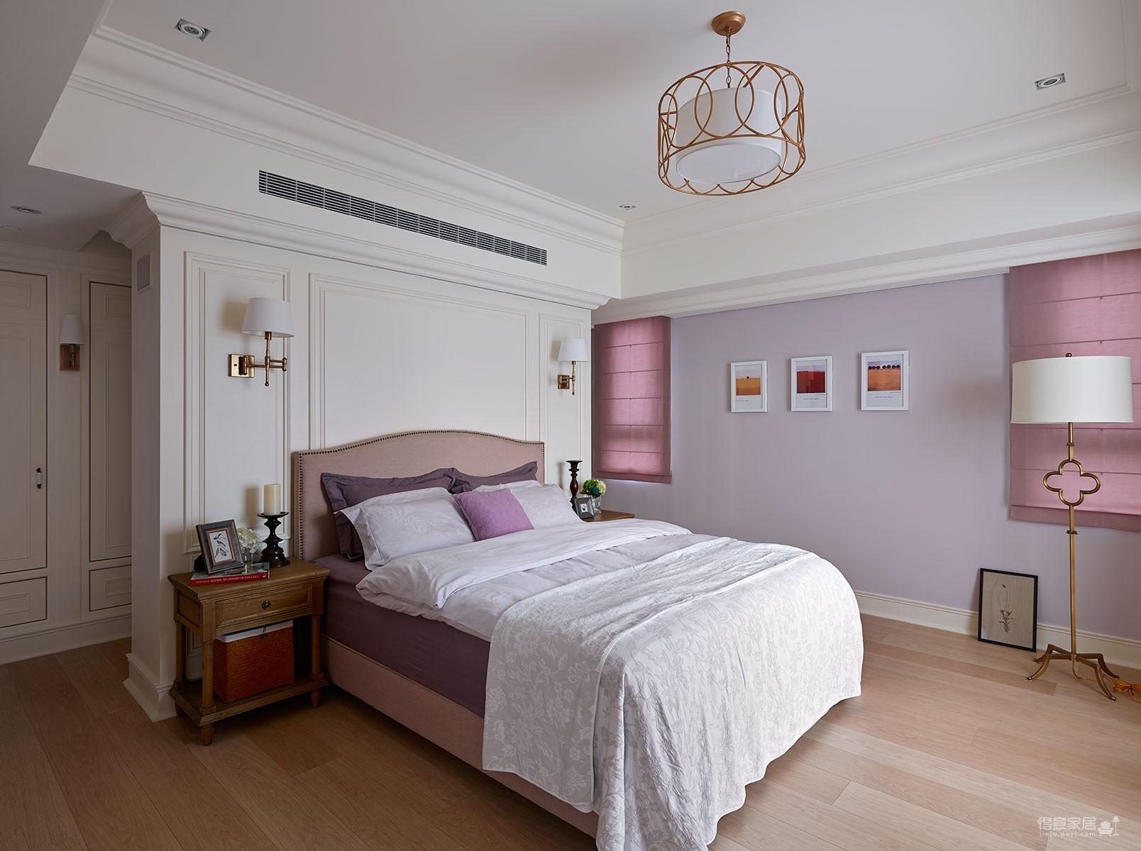 【美式】140平三室两厅美式装修效果图_4
