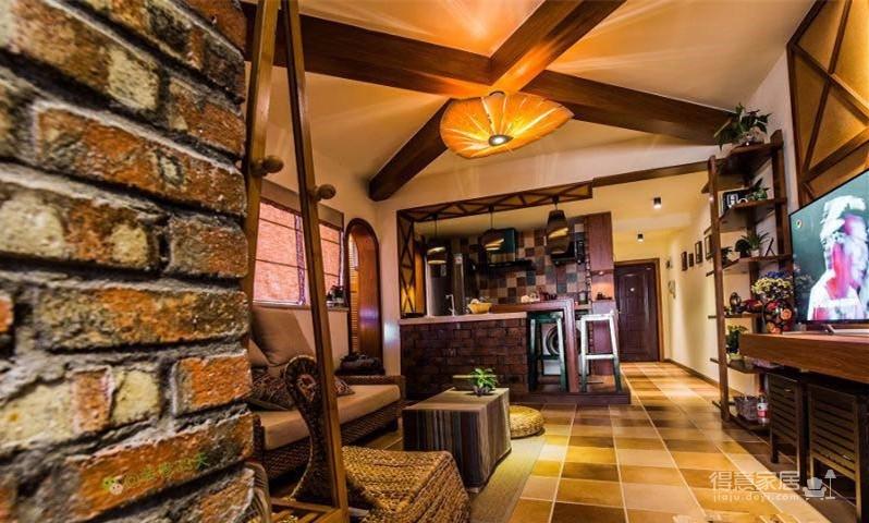 58平东南亚风格单身公寓《隐这里》图_5