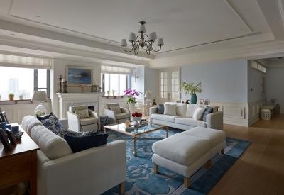【美式】140平三室两厅美式装修效果