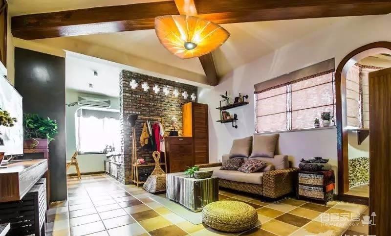 58平东南亚风格单身公寓《隐这里》图_1
