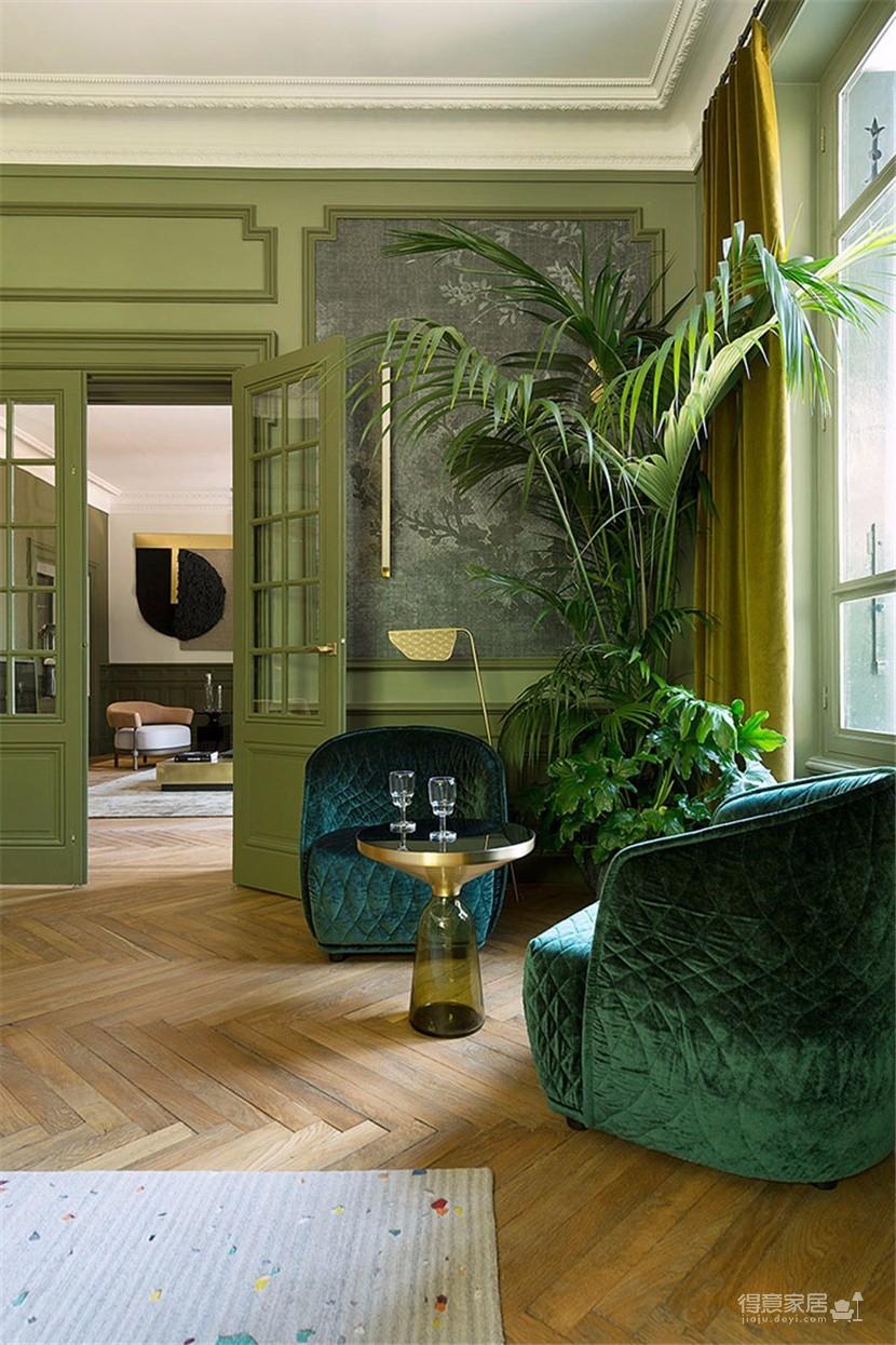 这间欧式现代公寓,用色彩传达情绪图_2
