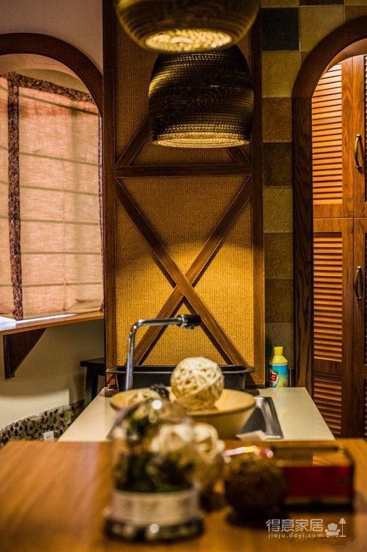 58平东南亚风格单身公寓《隐这里》图_2