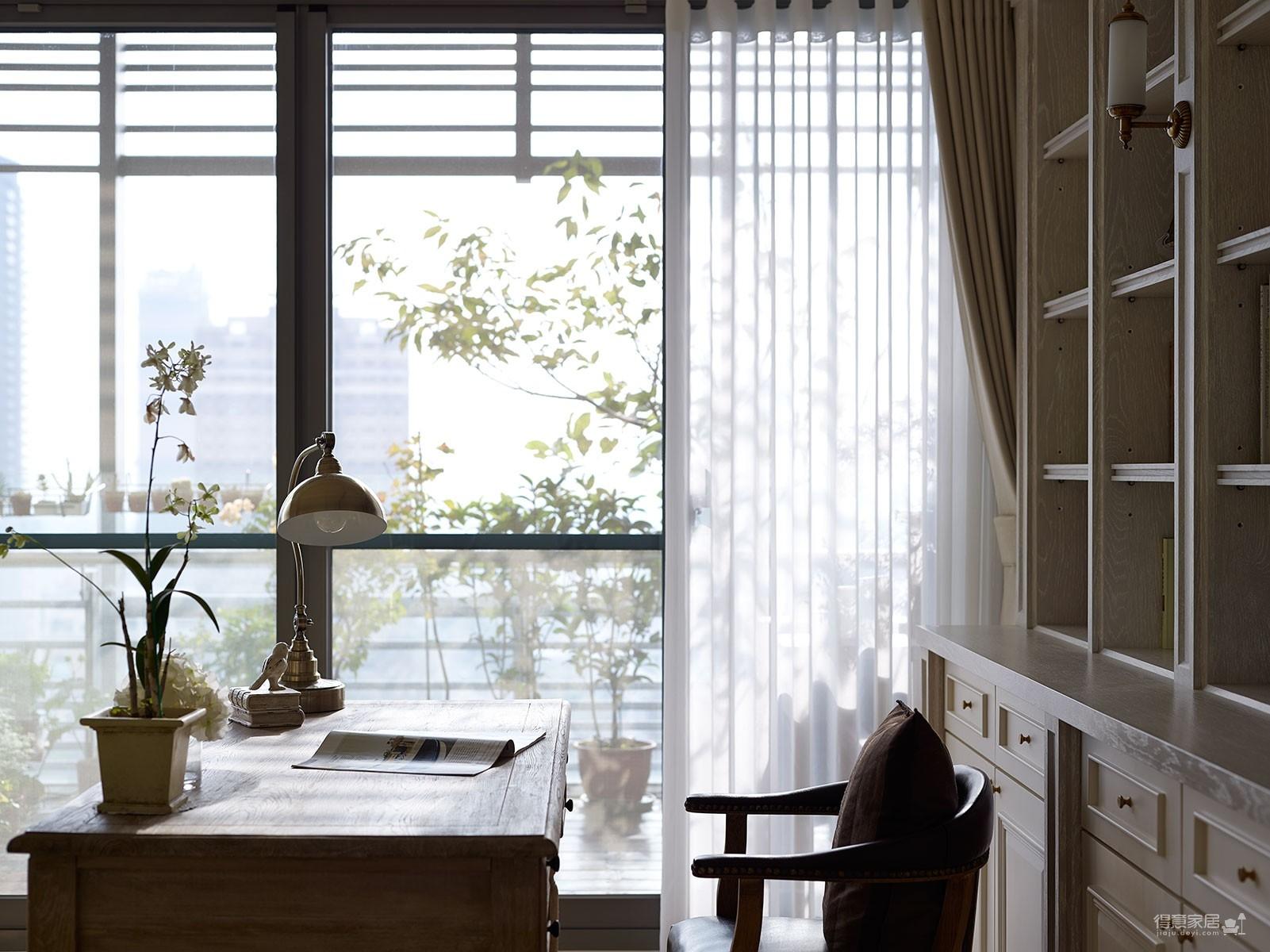 【美式】140平三室两厅美式装修效果图_6