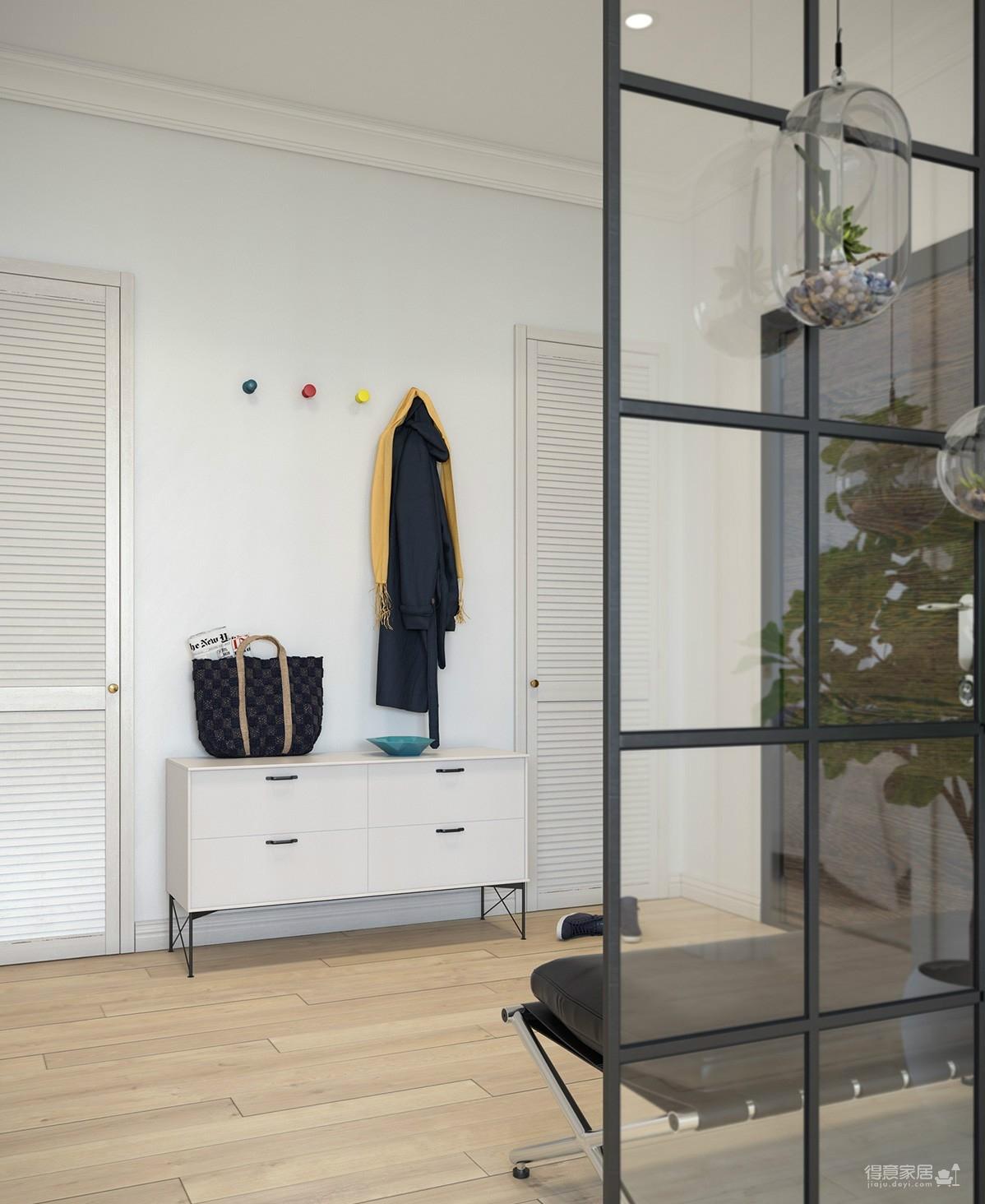 【北欧】70平两室一厅装修效果图_5