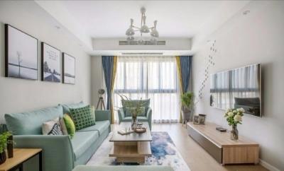 98㎡简约北欧风格家居装修设计,显得格外自然清新! 