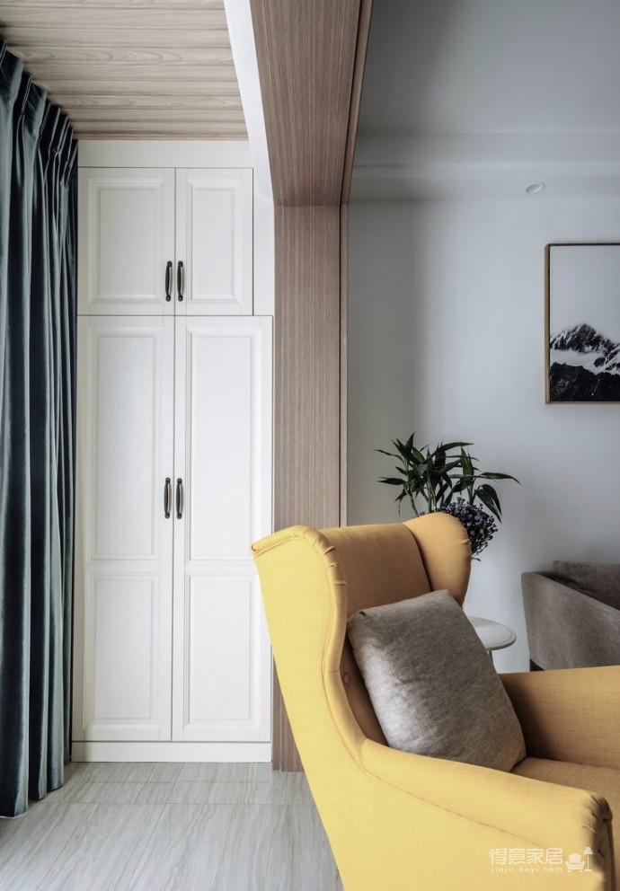 90㎡简约北欧混搭风三居室,温暖木质营造温馨氛围! 图_3