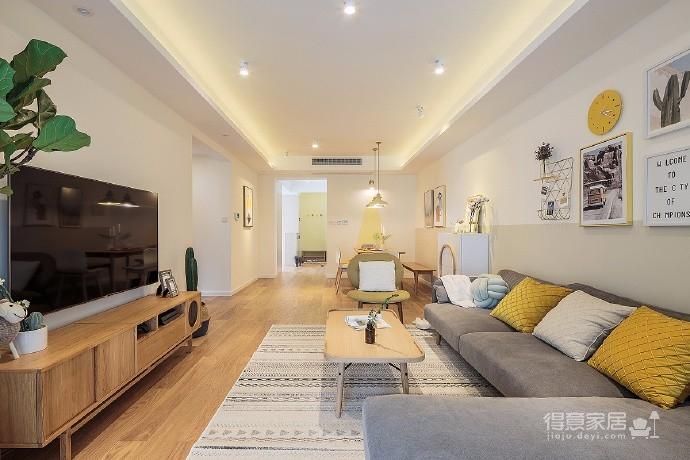90㎡北欧风格家居装修设计,要的就是这种温馨舒适感