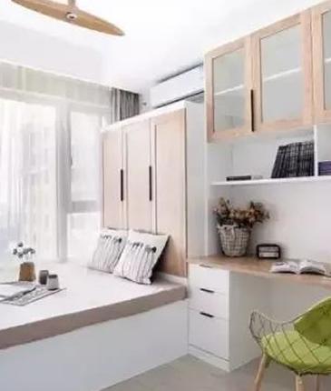 书桌+书架,榻榻米书房这样装,实用漂亮!