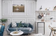 精致优雅的气质,85平现代美式二居室,美呆了~图_6