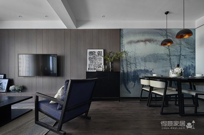 现代简约风三居室,温暖惬意的休闲空间图_2