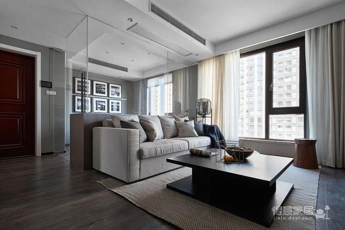 现代简约风三居室,温暖惬意的休闲空间图_4