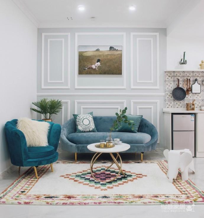 精致优雅的气质,85平现代美式二居室,美呆了~图_2