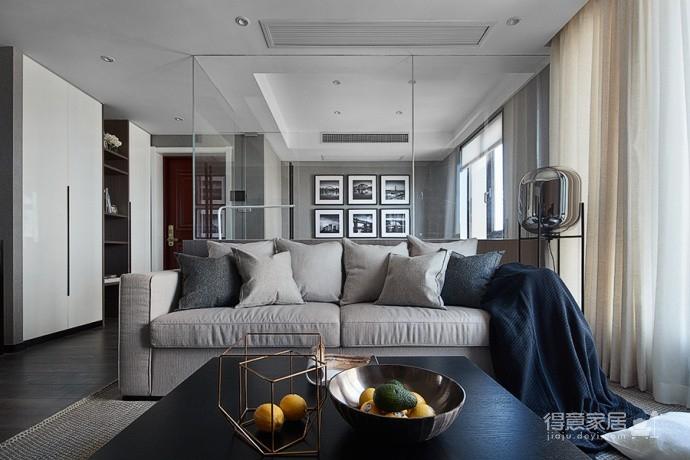 现代简约风三居室,温暖惬意的休闲空间图_3
