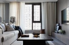 现代简约风三居室,温暖惬意的休闲空间图_1