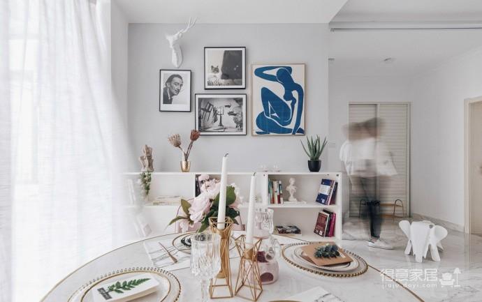 精致优雅的气质,85平现代美式二居室,美呆了~图_1