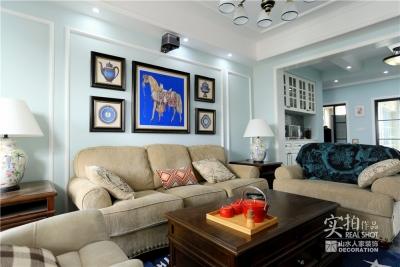 【保利公园九里】103平美式三室两厅装修效果