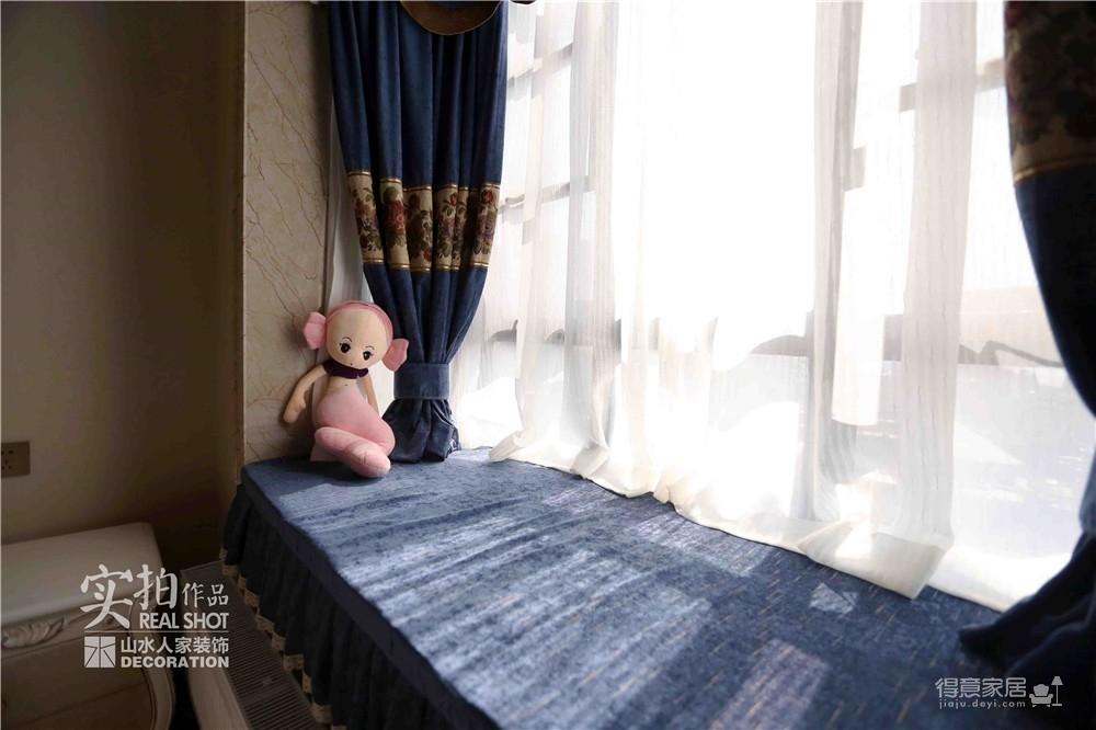 【桂苑小区】145平三室两厅简欧装修效果图_9