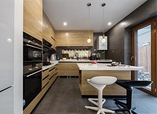 德利凯希武汉整体厨房橱柜定做 现代简约设计风格定制厨柜