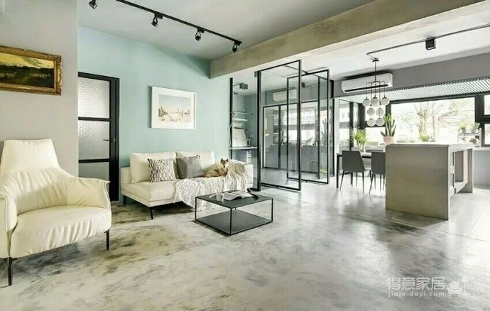 86m²轻工业简约公寓 质感的极简空间