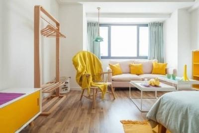 黄色调 虽然难搭但是做点缀却很容易提升整个空间的活力