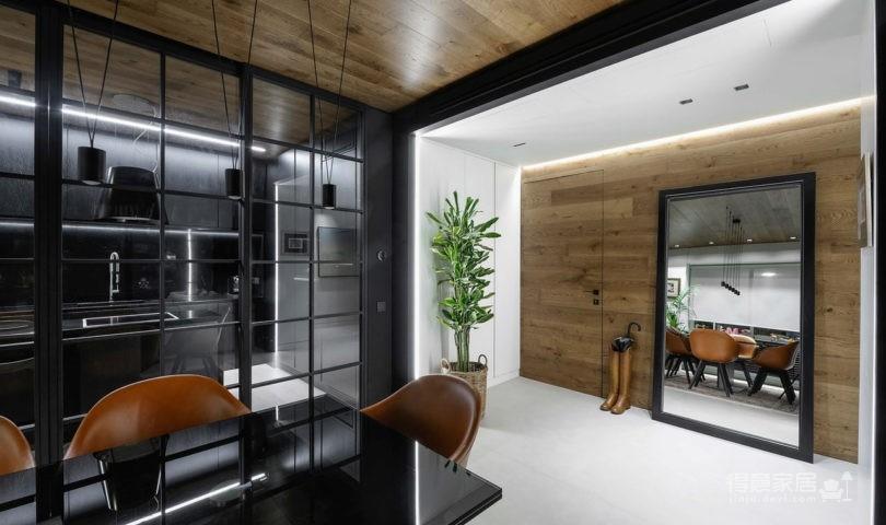 黑色和灰色打造的现代住宅设计图_2