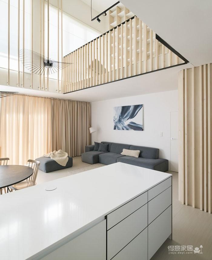 光线充足的简约优雅Loft住宅设计图_7