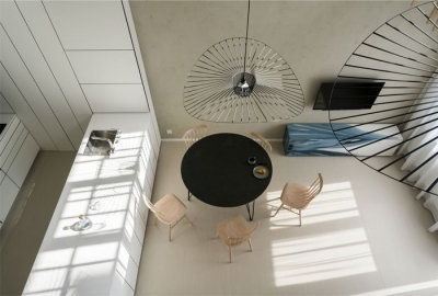 光线充足的简约优雅Loft住宅设计