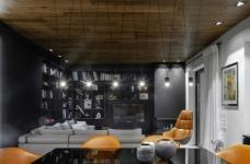 黑色和灰色打造的现代住宅设计图_4
