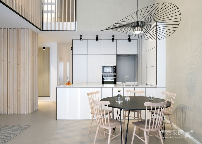 光线充足的简约优雅Loft住宅设计图_8