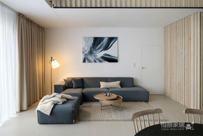 光线充足的简约优雅Loft住宅设计图_5