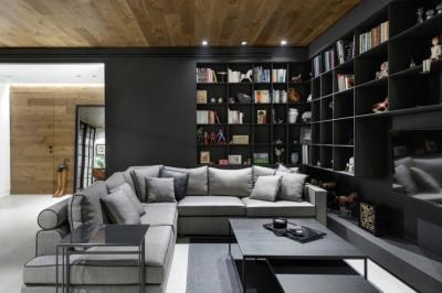 黑色和灰色打造的现代住宅设计