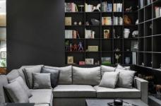 黑色和灰色打造的现代住宅设计图_1