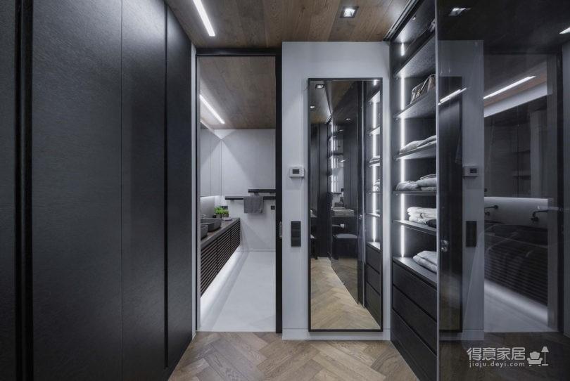黑色和灰色打造的现代住宅设计图_8