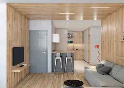 精选案例两室一厅现代简约