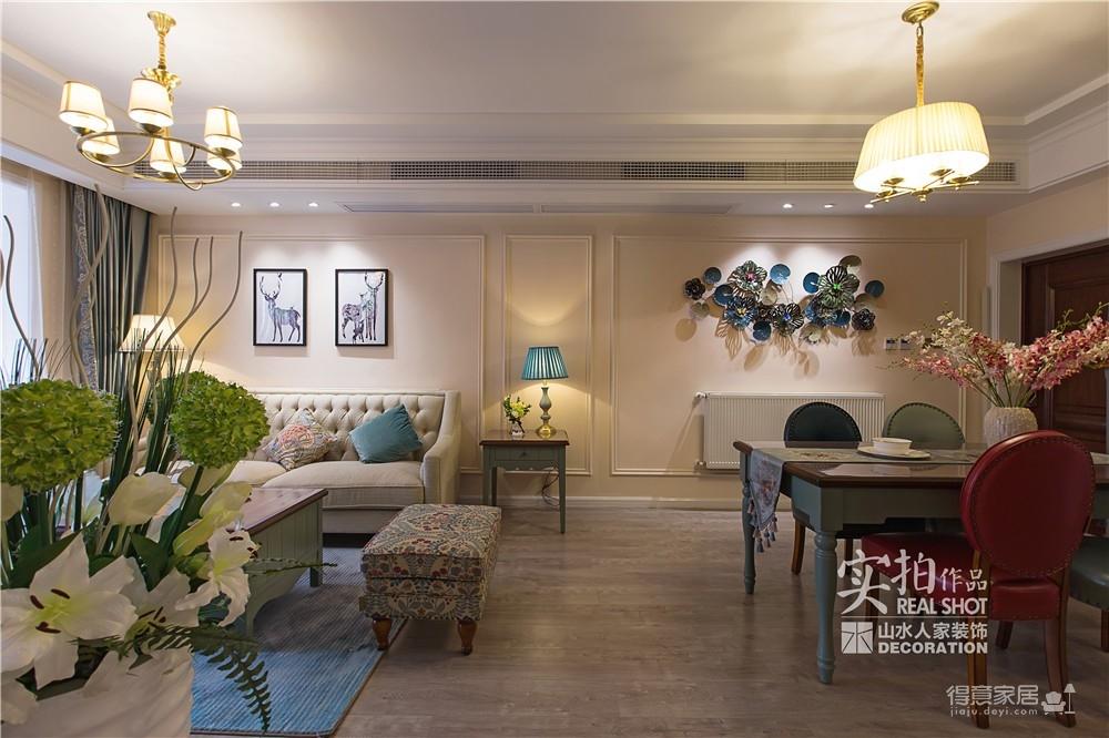 【瑞云居】116平美式混搭三室装饰效果图_11