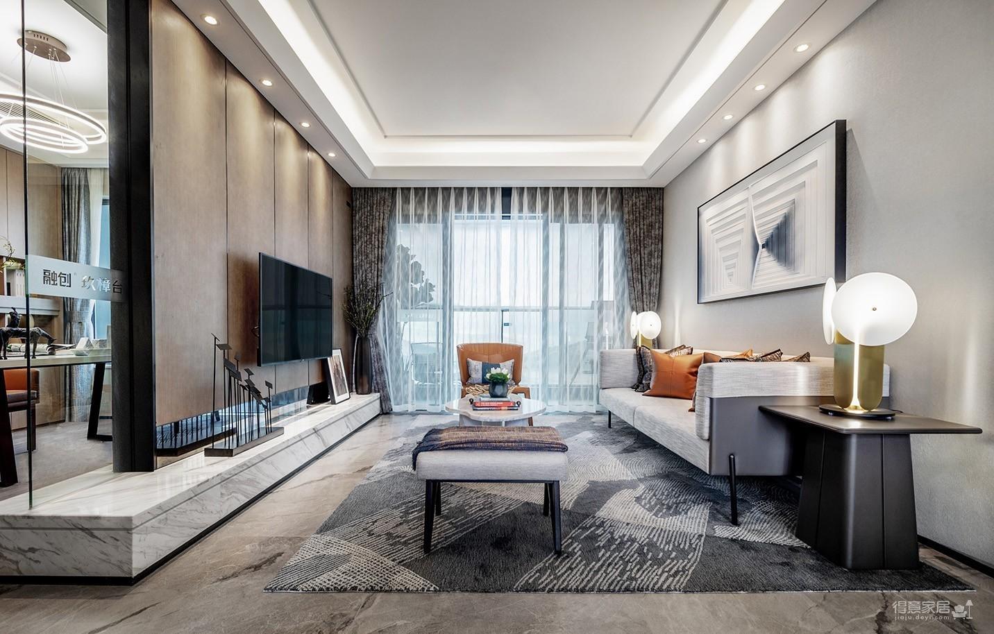 100㎡现代风家庭公寓图_3