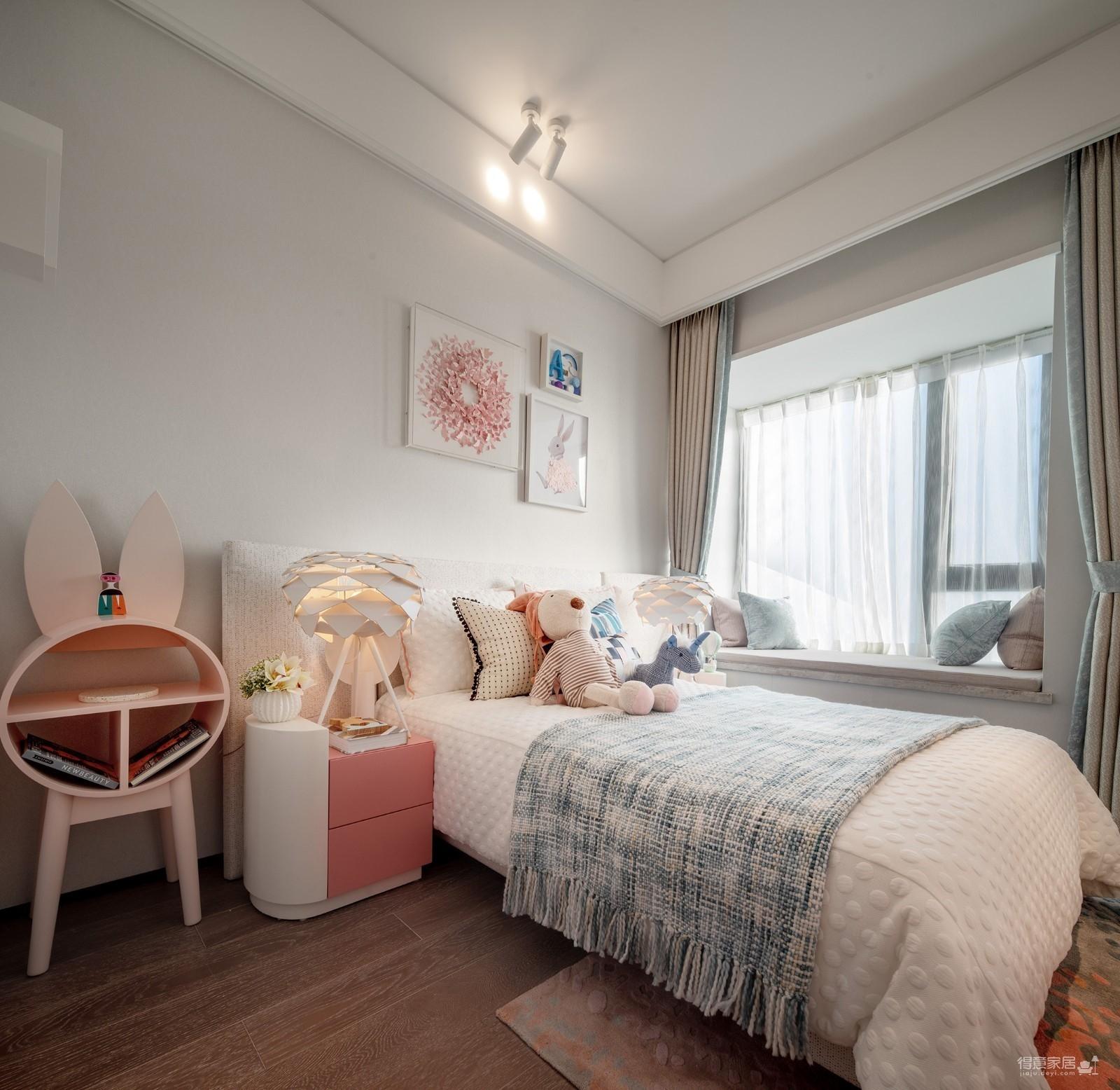 100㎡现代风家庭公寓图_9