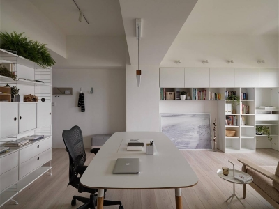 现代风格白色公寓