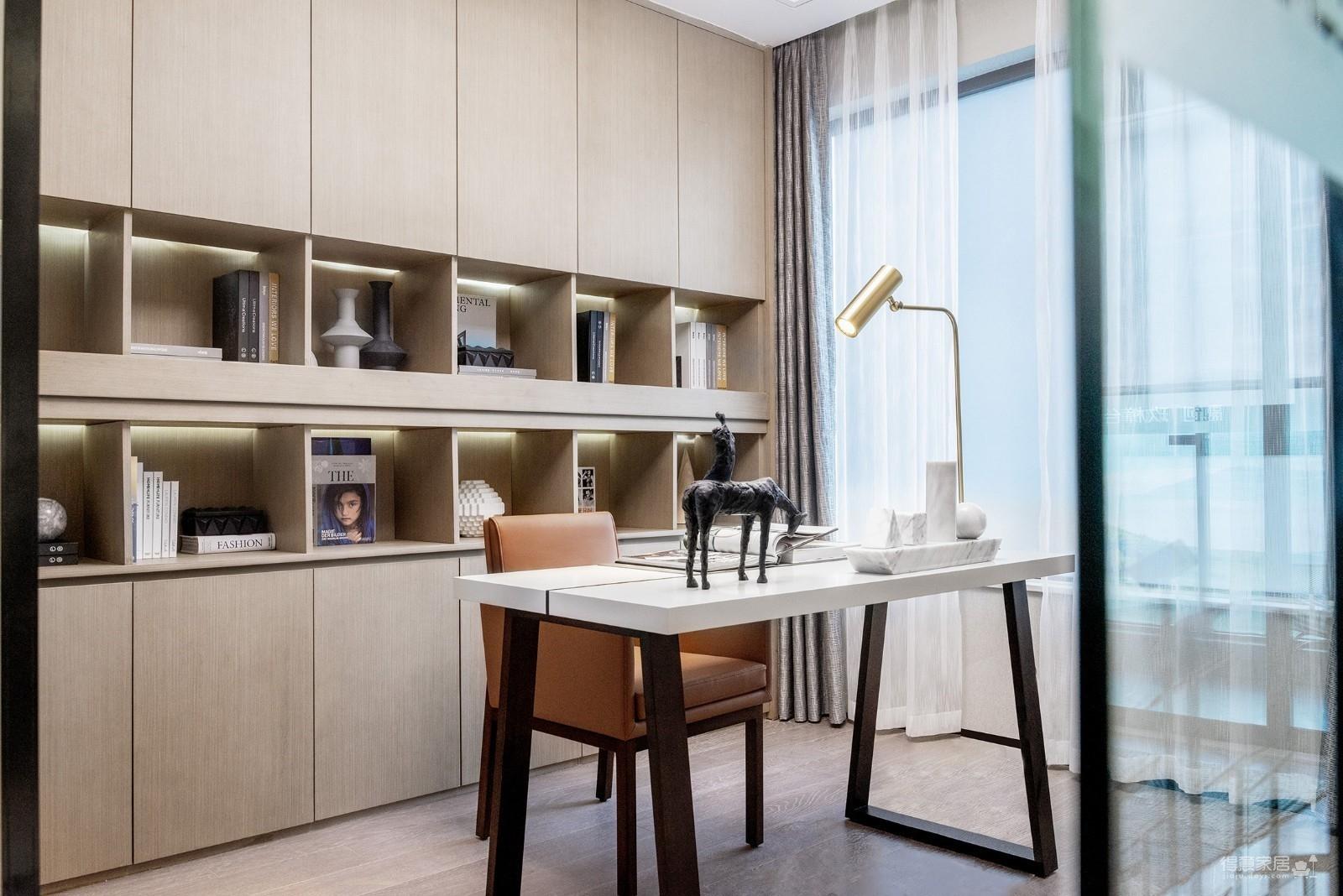 100㎡现代风家庭公寓图_7