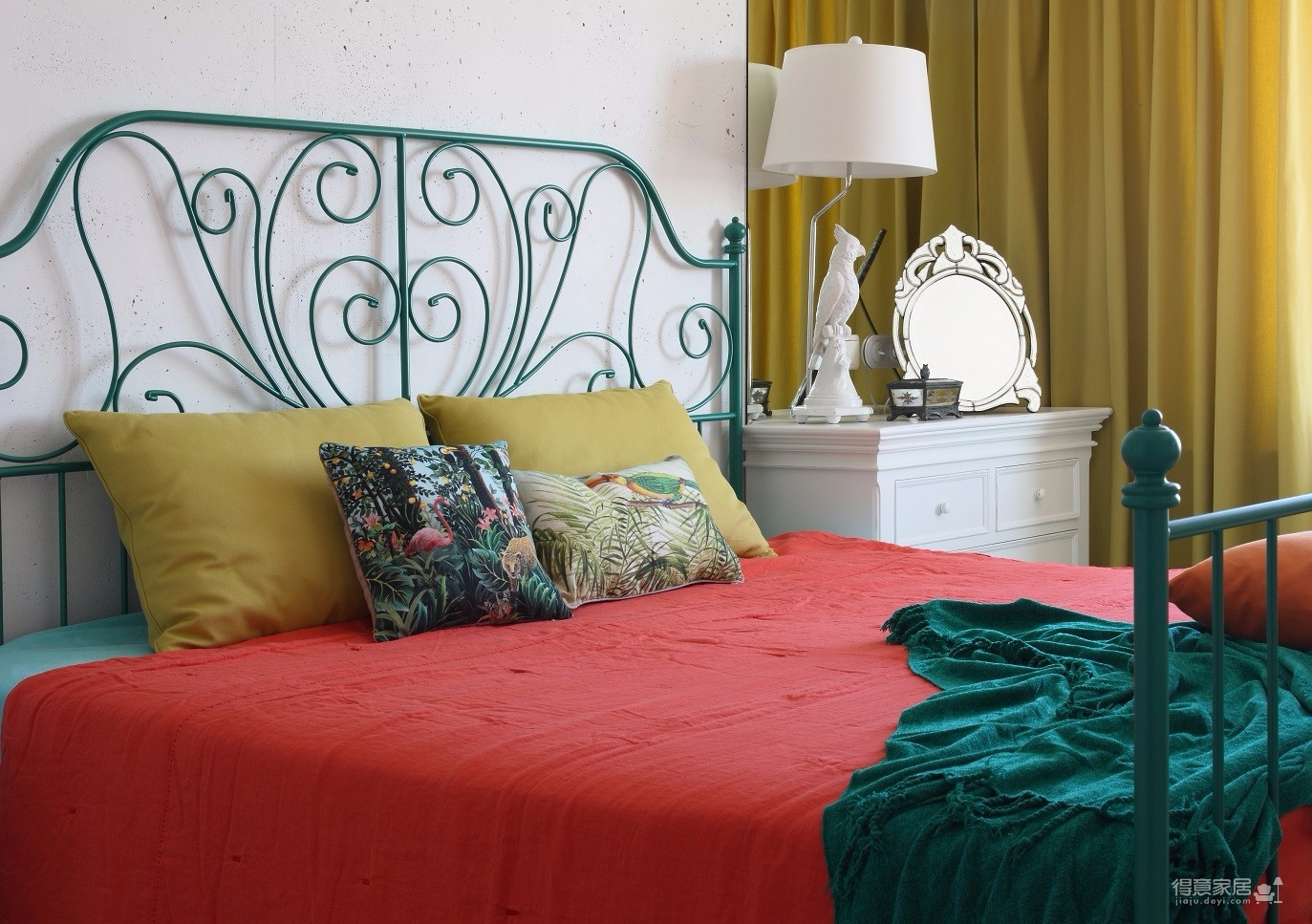 两室一厅串色混搭风图_3