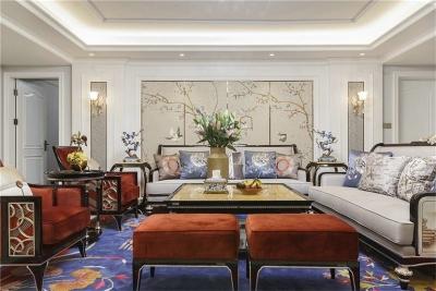 中国风恰如其分的装进三居室,尽显诗情画意